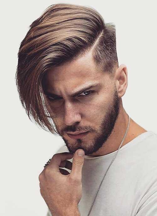 cool long side part haircut