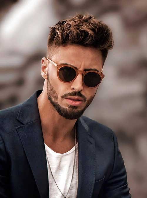 cool textured fade hairstyle