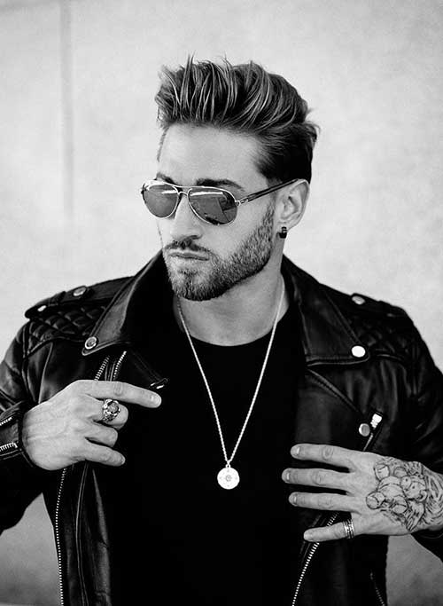 cool color modern pompadour hairstyle 2