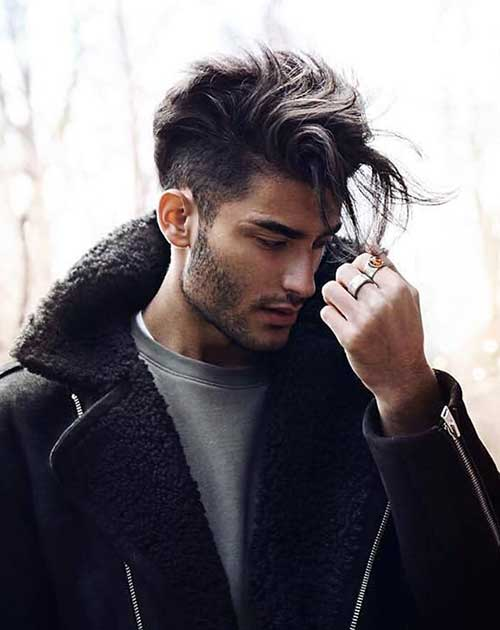 cool fade and wavy long top hairstyle
