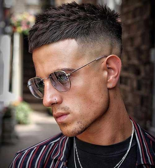 cool fringe high fade haircut