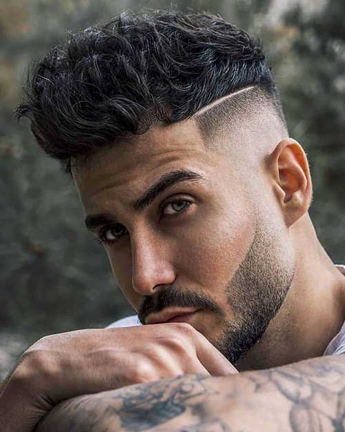 cool wavy high fade haircut