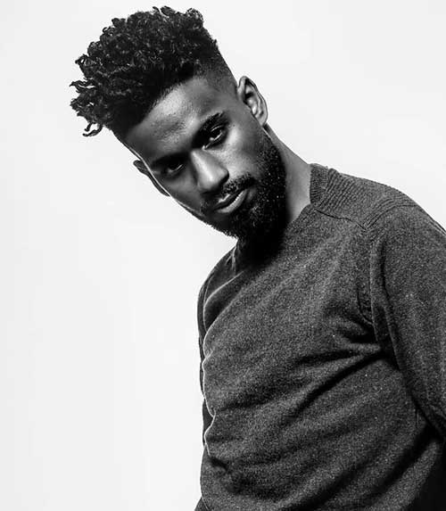 hairstyles for black men with beard