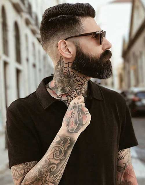 comb over taper medium length haircut