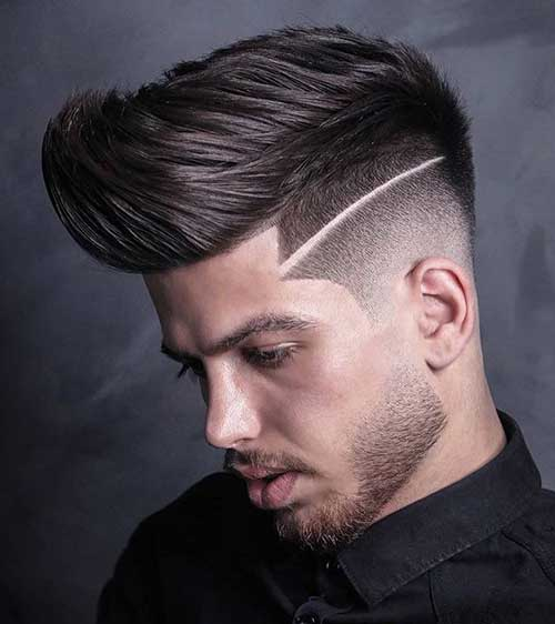 quiff with surgical line hairmanz