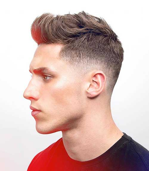 classic wavy low taper fade 3
