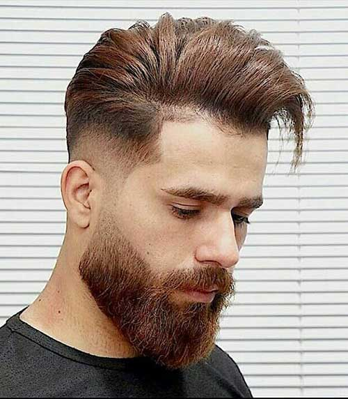 comb over low taper fade
