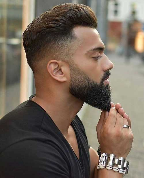 short low taper fade with beard