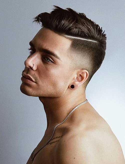 side part low taper fade