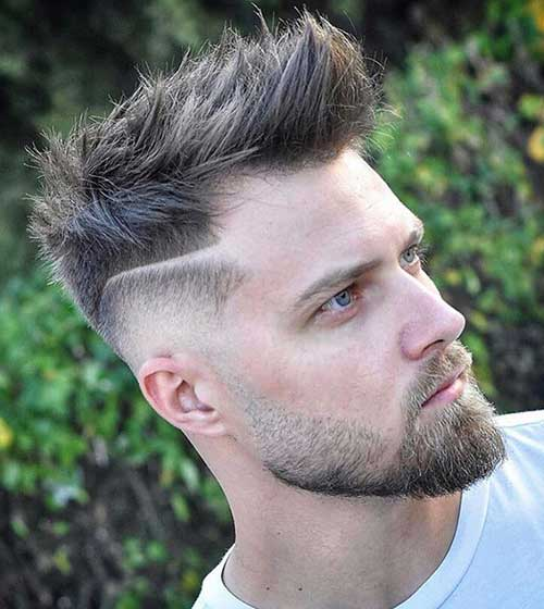 spiky side part low taper fade 2