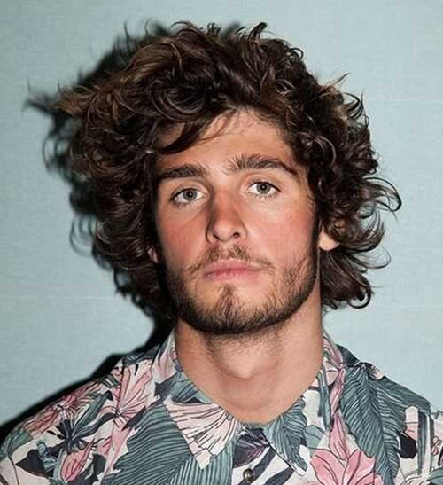 brown long natural curly hairstyle
