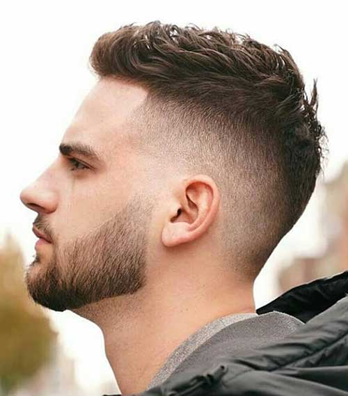 fade short haircut for men 7