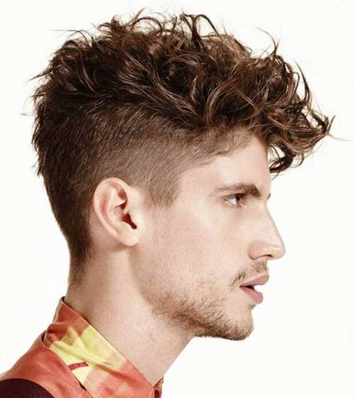 ginger messy short side curly hairstyles for men