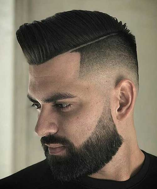 hard part short haircut for men 2