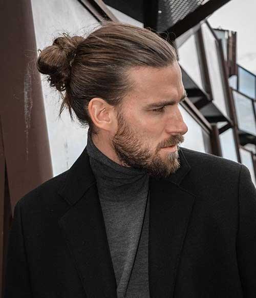 long men hairstyles man bun 1