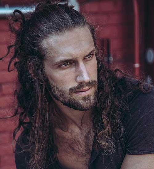 long men hairstyles half up 1