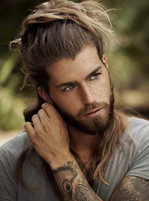 long men hairstyles half up 7
