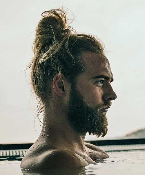 long men hairstyles top knot 1