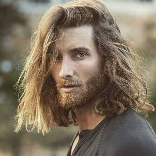 long men hairstyles with beard 1