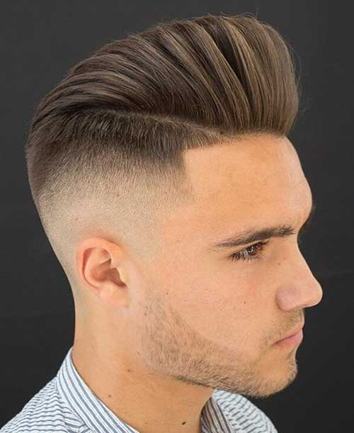 pompadour short haircut for men 1