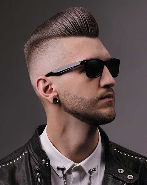 pompadour short haircut for men 2