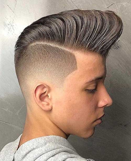 pompadour short haircut for men 3
