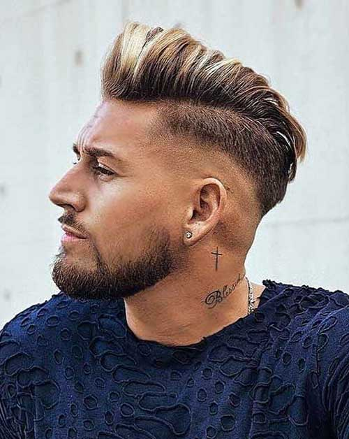 pompadour short haircut for men 4