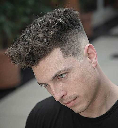 short flat top curly hairstyles for men