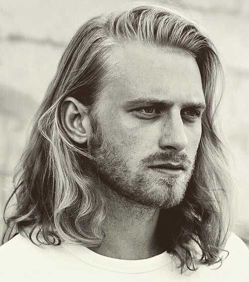 shoulder length long men hairstyles 1