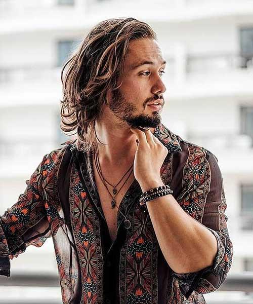 shoulder length long men hairstyles 5