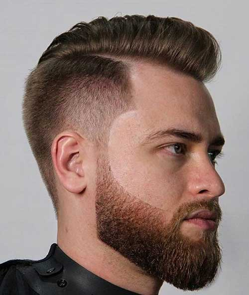 side part short haircut for men 1