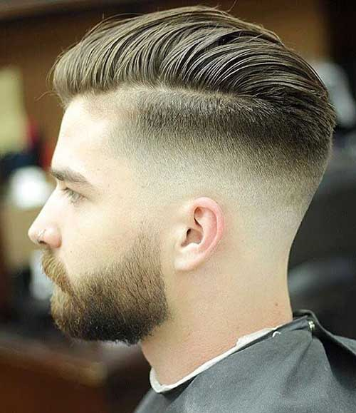 side part short haircut for men 2