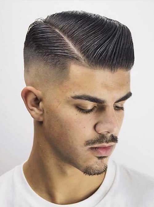 side part short haircut for men 3