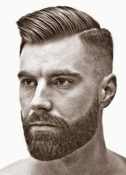 side part short haircut for men 4