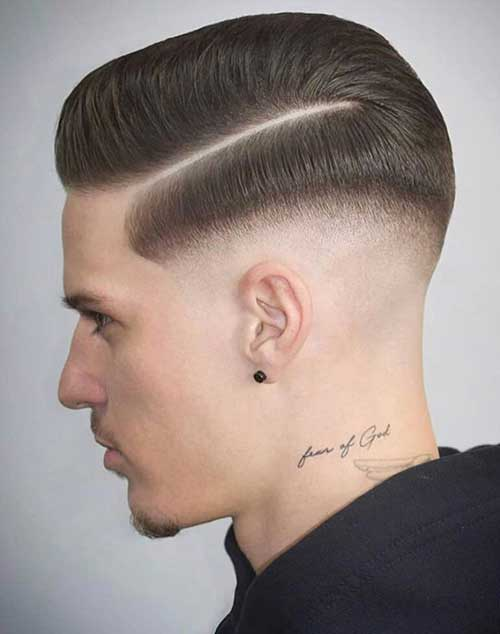 side part short haircut for men 7
