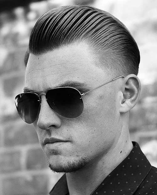 slicked back short haircut for men 2