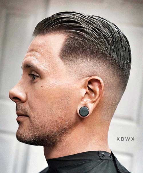 slicked back short haircut for men 3