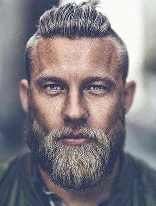 slicked back short haircut for men 4