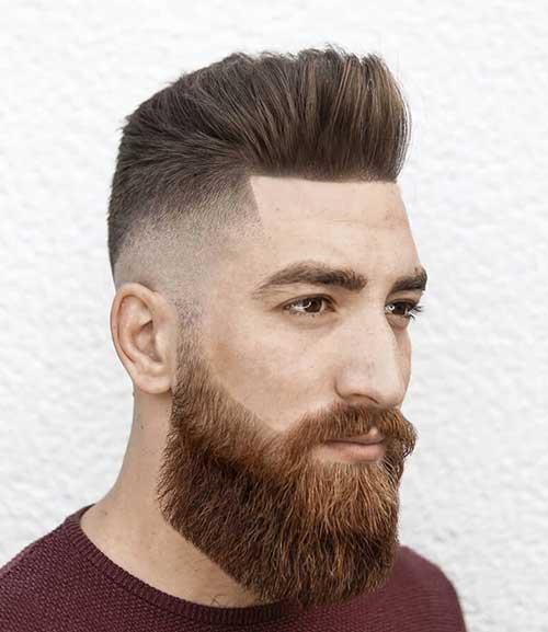 bald fade with beard 1