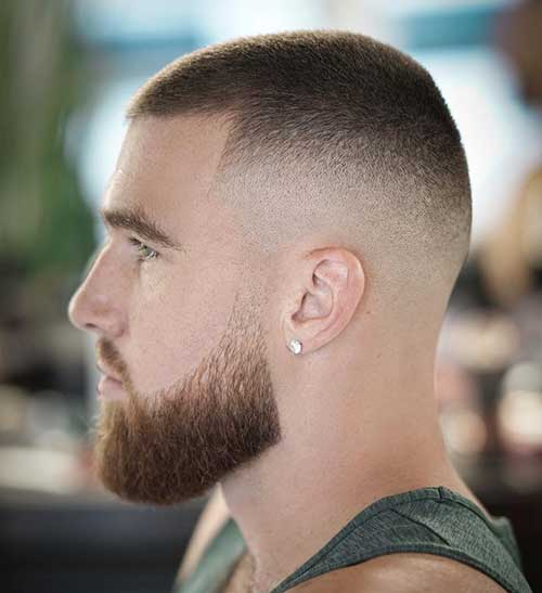 bald fade with buzz cut 1