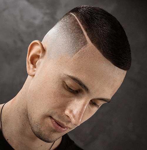 bald fade with buzz cut 2