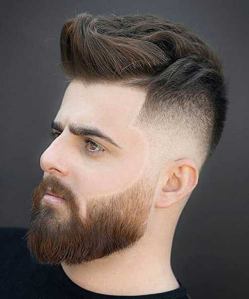 bald fade with quiff 1