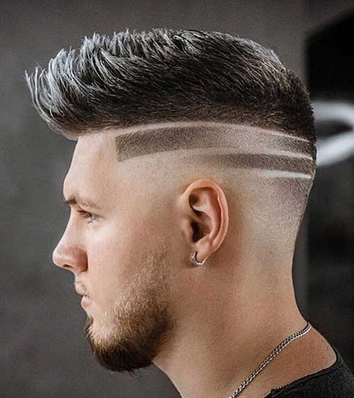 bald fade with quiff 2