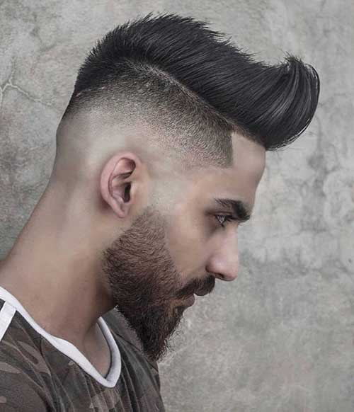 bald fade with quiff 3