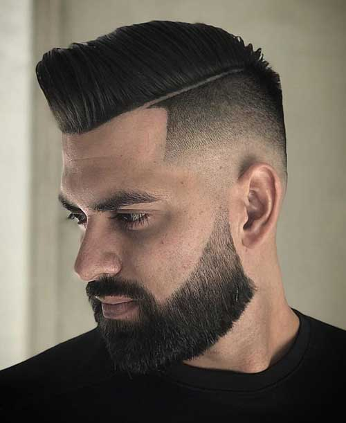 bald fade with side part 2