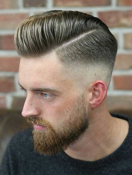 bald fade with side part 3