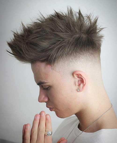 bald fade with spiky 3