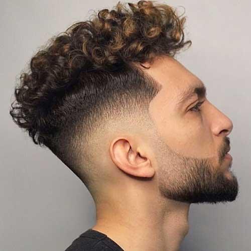 curly undercut fade haircuts 1