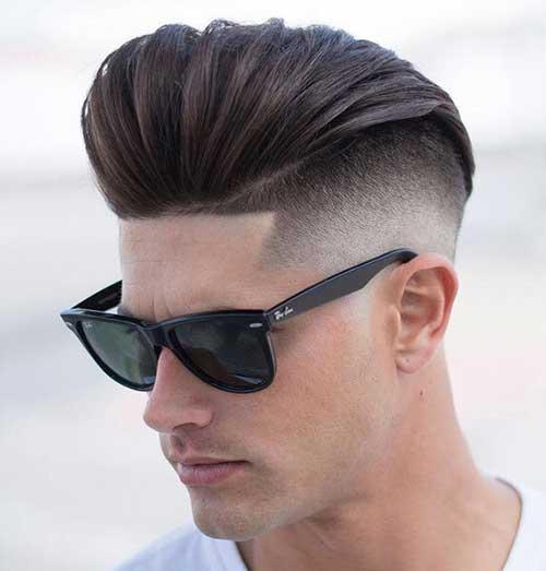 slicked back undercut fade haircuts 2