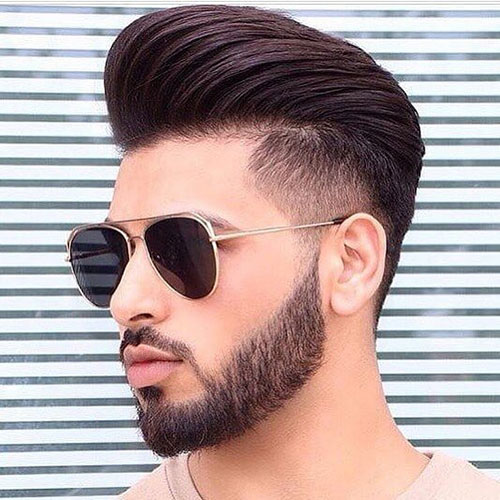 pompadour with beard 12